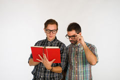 Friends reading Stock Image