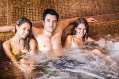 Friends relaxing in a spa Stock Photos