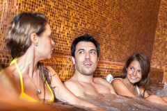 Friends relaxing in a spa Royalty Free Stock Image