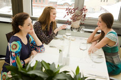 Friends in the restaurant Royalty Free Stock Photo