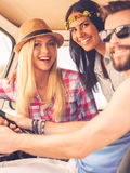 Friends on road trip. Royalty Free Stock Photos