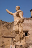 Friends, Romans. An almost intact Roman statue in the ruins of Herculaneum on the Bay of Naples, Italy Royalty Free Stock Photo