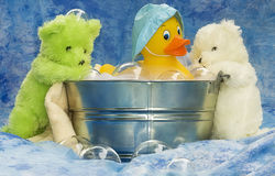 Friends Rub a Dub Dub Royalty Free Stock Photos