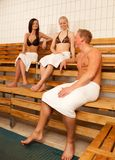 Friends in Sauna Royalty Free Stock Photography