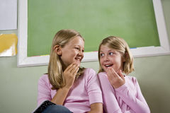 Friends in school classroom Royalty Free Stock Photo
