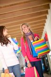 Friends shopping Stock Photography