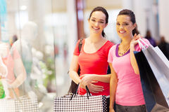 Friends shopping Royalty Free Stock Photo