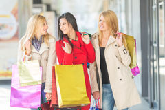 Friends shopping Stock Image