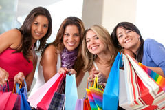 Friends shopping Stock Photos