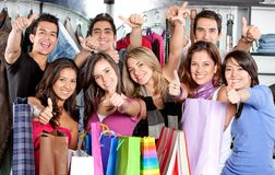 Friends shopping Royalty Free Stock Photos