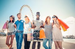 Friends and shopping Stock Photography
