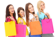 Friends on shopping Royalty Free Stock Photography