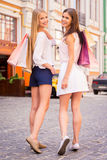 Friends shopping. Royalty Free Stock Photography