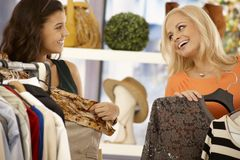 Friends shopping together Royalty Free Stock Image
