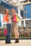 Friends shopping Royalty Free Stock Image