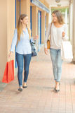 Friends shopping at weekend Royalty Free Stock Image