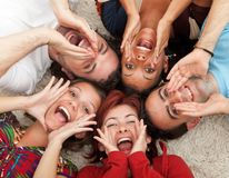 Friends shouting Stock Image
