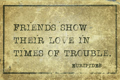 Friends show Euripides Stock Images