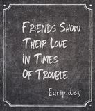 Friends show Euripides royalty free stock images