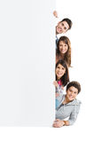 Friends Showing Placard Stock Photos