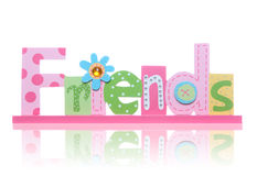 Friends Sign. A colorful friends sign over a white background Royalty Free Stock Photography