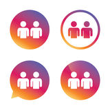 Friends sign icon. Social media symbol. Royalty Free Stock Images