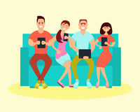Friends sitting on the couch Royalty Free Stock Photo