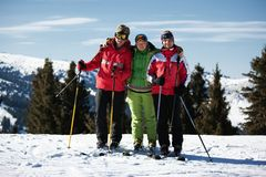 Friends at the ski resort Royalty Free Stock Images