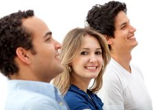 Friends smiling Royalty Free Stock Photos