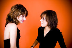Friends smiling Royalty Free Stock Images