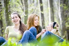 Friends smiling Royalty Free Stock Photo
