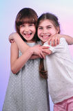 Friends smiling Royalty Free Stock Image