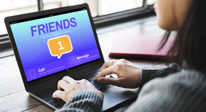 Friends Social Communication Message Graphic Concept. Friends Social Communication Message Graphic royalty free stock images