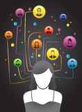 Friends Social Network stock illustration