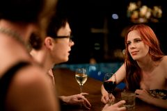 Friends socialising Royalty Free Stock Image
