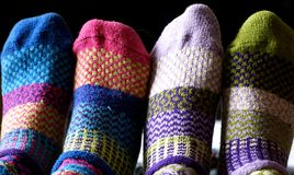 Friends with socks Stock Photos
