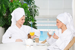 Friends in spa salon Stock Image