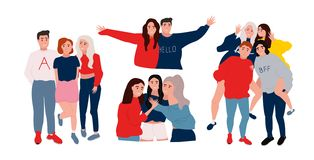 People having a fun vector illustration