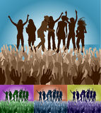 Friends on stage Royalty Free Stock Photos