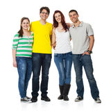 Friends standing together and smiling Stock Photo