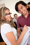 Friends or students smiling Stock Photography