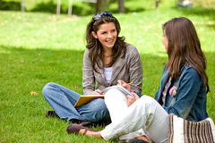 Friends or students smiling Royalty Free Stock Photography