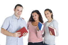 Friends studing tohether Stock Photos