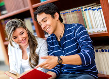 Friends studying together Stock Images