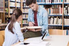 Friends studying together Stock Photography