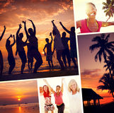 Friends Summer Beach Happiness Vacation Concept Royalty Free Stock Photo