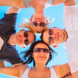 Friends on summer holidays royalty free stock photo