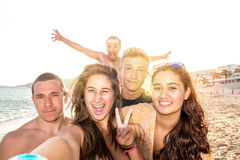 Friends in Summer taking a selfie Stock Photography