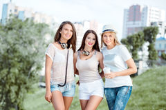 Friends in summer. Royalty Free Stock Photos