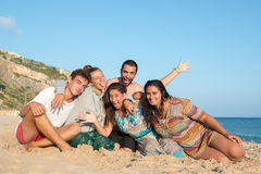 Friends in Summer time Royalty Free Stock Photo